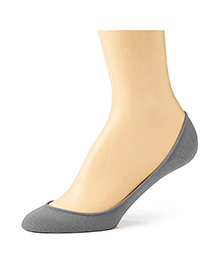 Pink Flamingo Cotton Shoe Liner - Grey
