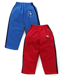Simply Track Pants Pack Of 2 - Blue And Red