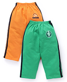 Simply Track Pants Pack Of 2 - Orange And Green