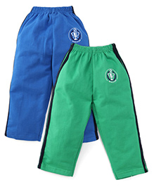 Simply Track Pants Pack Of 2 - Blue And Green