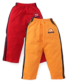 Simply Track Pants Pack Of 2 - Red And Orange
