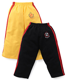 Simply Track Pants Pack Of 2 - Yellow And Black