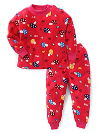 Superfie Fruit Printed Winter Set - Rose Red