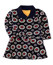 Superfie Floral Printed Dress - Navy Blue