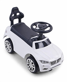 Foot To Floor Ride On Vehicle - White & Black