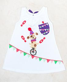 Plan B Circus Print Dress - White