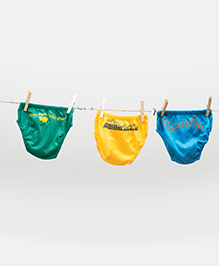 Plan B Set Of 3 Briefs - Green & Yellow
