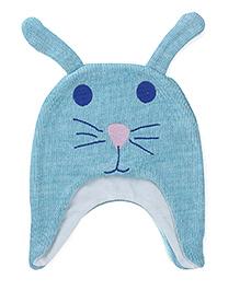 Babyoye Bunny Cap - Aqua Blue