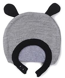 Babyoye Winter Cap - Grey Black