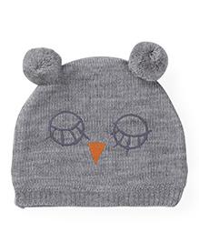 Babyoye Winter Cap - Melange Grey