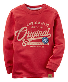 Carter's Long Sleeve Original Graphic Tee - Red