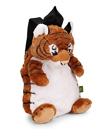 Wild Republic Tiger Backpack Brown & White  - 30 Cm