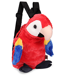 Wild Republic Scarlet Macaw Backpack Red & White - 30 Cm