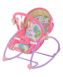 Toyhouse Rocking Chair Cum Baby Bouncer - Pink
