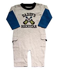 Kiwi Rock Star Romper - Grey