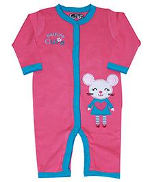 Kiwi Mouse Print Cutie Romper - Pink