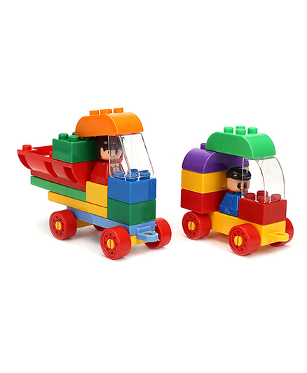 Virgo Toys  Play Blocks Highway Vehicle Set - Multi Color