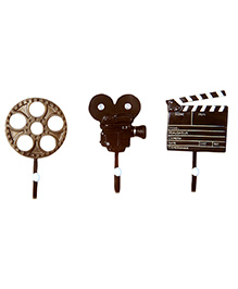Little Nests Hooks Lights Camera Action Theme - Brown