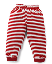 Ollypop Full Length Striped Track Pants - Red