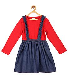 My Lil'Berry Frill Suspender Dress - Blue
