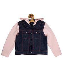 My Lil'Berry Knit  Bomber Jacket - Pink & Blue
