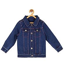 My Lil'Berry Denim Bomber Jacket - Blue