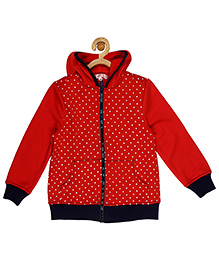 My Lil'Berry Printed Hood Jacket - Red