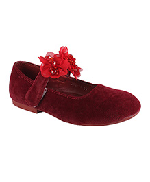 Cutecumber Bellies With Floral Applique - Maroon