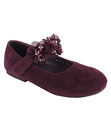 Cutecumber Bellies With Floral Applique - Purple