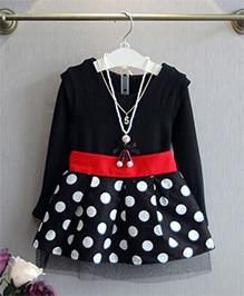 Pre Order : Superfie Polka Dot Dress - Black