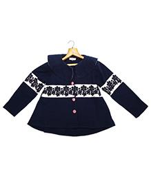 Marshmallow Kids Couture Elegant Jacket - Dark Blue