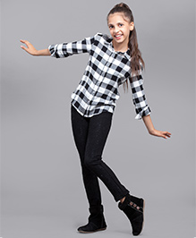 One Friday Girls Lace Stretchable Legging - Black