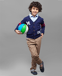 One Friday Boys Knitted Cardigan - Navy Blue