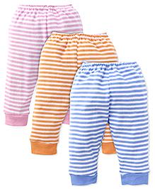 Pink Rabbit Full Length Track Pant Pack Of 3 - Blue Pink Orange