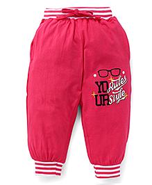 Fido Full Length Track Pants - Pink