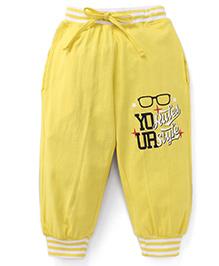 Fido Full Length Leggings - Yellow