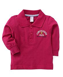 Pink Rabbit Full Sleeves Campus Design T-Shirt - Pink