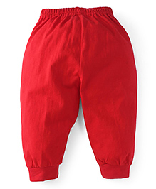 Fido Full Length Track Pants - Red
