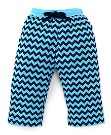 Fido Full Length Chevron Printed Leggings - Blue Navy