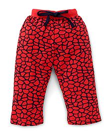 Fido Full Length Printed Leggings - Red
