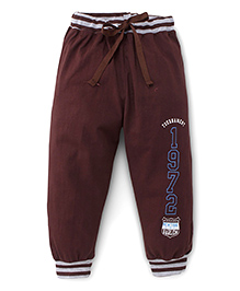 Fido Track Pants Numbers Print - Brown
