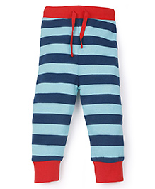 Pinehill Striped Full Length Track Pant - Red Blue Navy