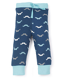 Pinehill Track Pants With Moustache Print - Blue