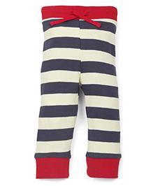 Pinehill Stripes Full Length Track Pant - Navy Yellow Red