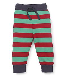 Pinehill Full Length Striped Track Pants - Red Green