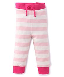 Pinehill Track Pants Stripes Print - White And Pink