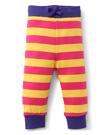 Pinehill Track Pant Stripes Print - Yellow And Pink