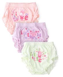 Simply Panties Multi Print Pack Of 3 - Peach Green Lavender