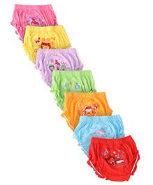 Simply Panties Days Of The Week Print Pack Of 7 - Multi Color