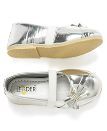 LCL Side Bow Ballerina Shoes - Silver